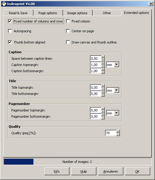GIMP indexprint plugin